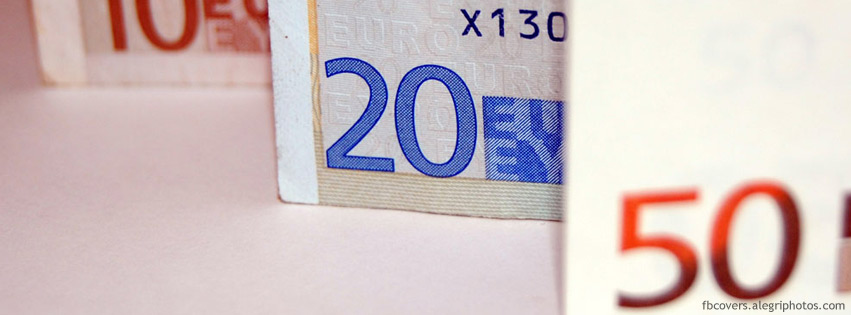 50 20 and 10 euro bill Facebook cover photo