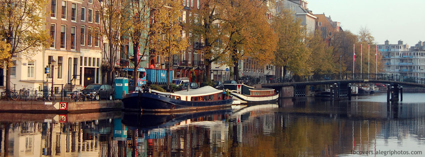 Amsterdam at day Facebook cover photo