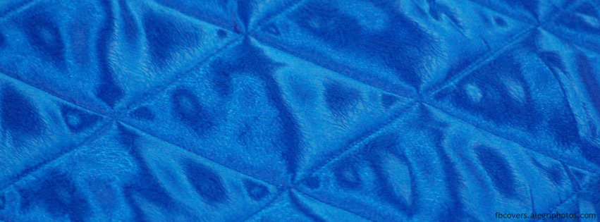Blue silk bed sheet Facebook cover photo