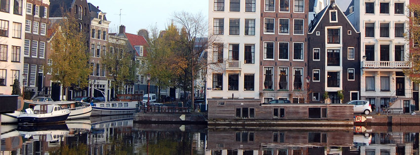 Classic architecture of Amsterdam Facebook cover photo