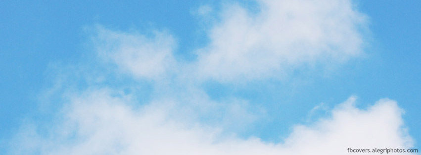 Cloud on blue sky Facebook cover photo