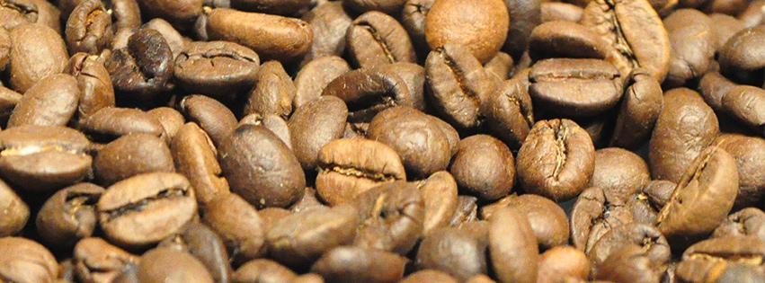 Coffee beans Facebook cover photo