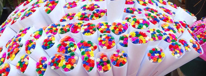 اغلفة فيسبوك باقات 2017, غلافات للبنات رائعة للفيسبوك جديدة Colorful-flower-bouq