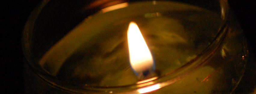 Decorative candle flame Facebook cover photo