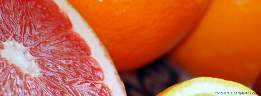 Delicious fresh fruits Facebook cover photo