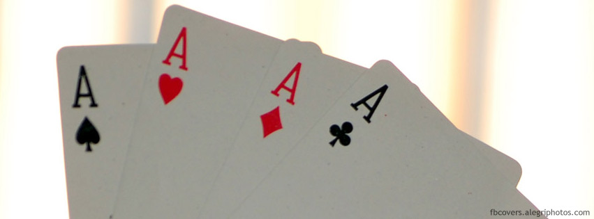 Four aces hand Facebook cover photo