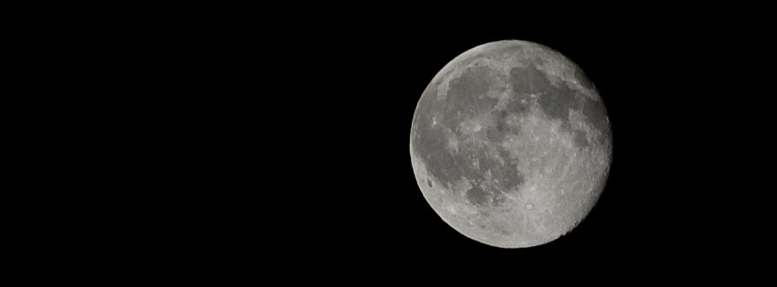 Full moon Facebook cover photo