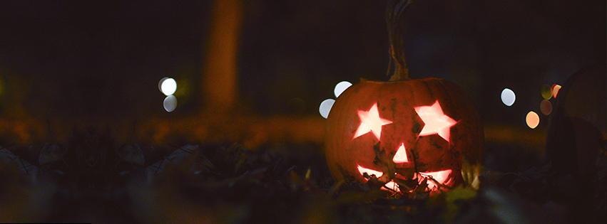 Halloween pumpkin Facebook cover photo