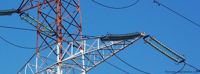 High voltage electricity poles Facebook cover photo