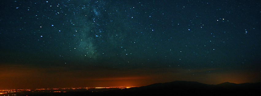 Milky way Facebook cover photo