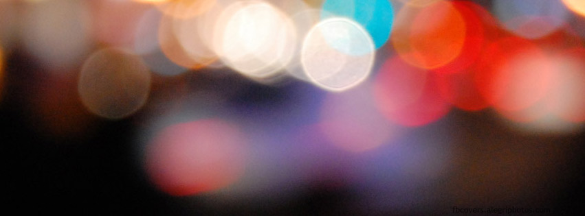 Multicolor lights Facebook cover photo