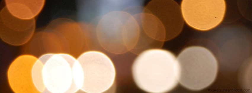 Multicolored lights out of focus Facebook cover photo
