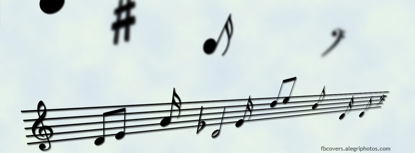 Musical notes Facebook cover photo