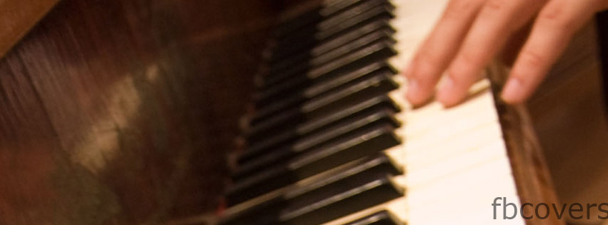 Piano hands Facebook cover photo