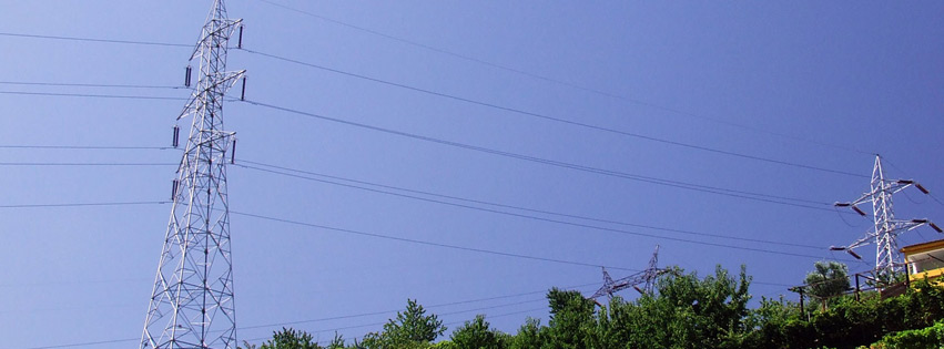 Power lines over vineyard Facebook cover photo