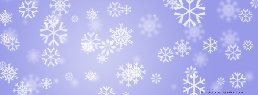 Snowflakes on blue light Facebook cover photo