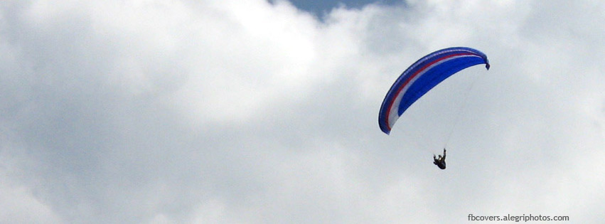 Soaring high in clouds Facebook cover photo